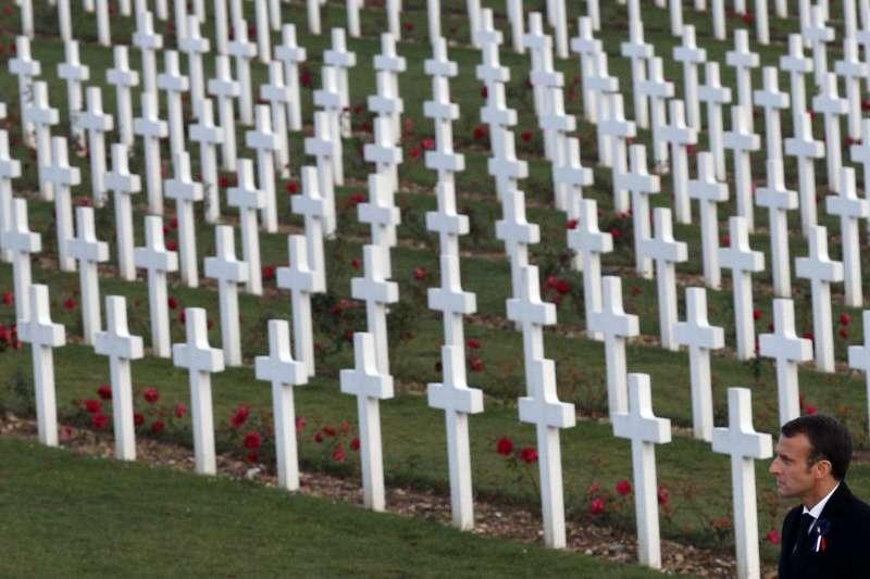 一戰百年:法國總統馬克宏到東北城市凡爾登參加紀念活動(AP)