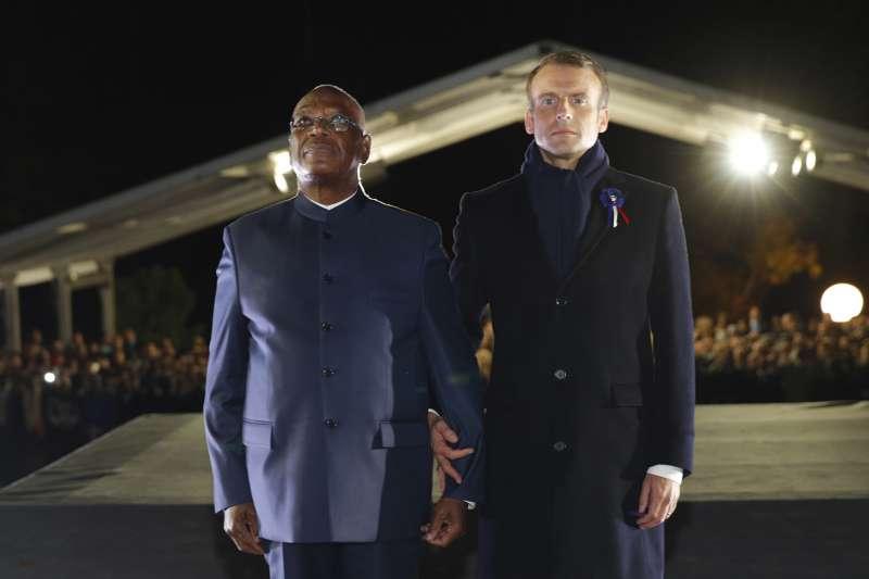 一戰百年:法國總統馬克宏與馬利總統凱塔悼念陣亡士兵(AP)