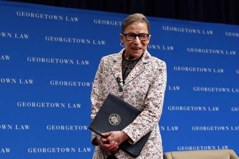 美國聯邦最高法院大法官金斯堡(Ruth Bader Ginsburg)(AP)