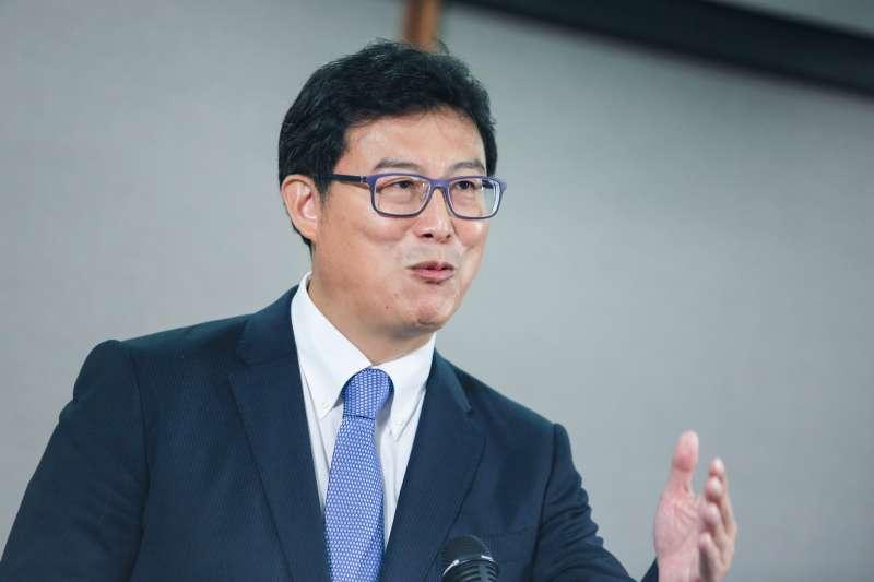 20181110-台北市長參選人姚文智出席參加公視電視辯論,並於會後召開記者會。(簡必丞攝)