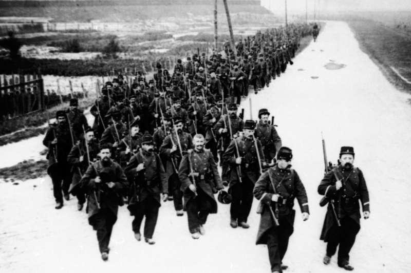 一戰終戰百年,歷史照片。比利時軍隊(AP)
