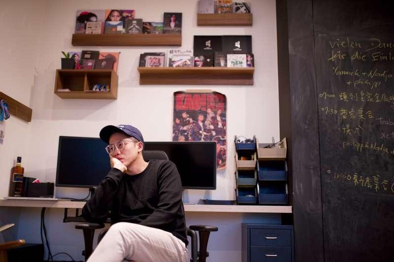 許智彥還記得,台北電影獎的那天晚上,那個令他難以忘懷的夜晚。(圖/攝影鄭采綸)