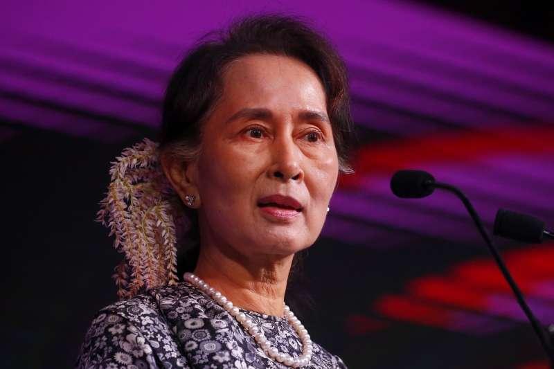 緬甸最高領導人翁山蘇姬(AP)
