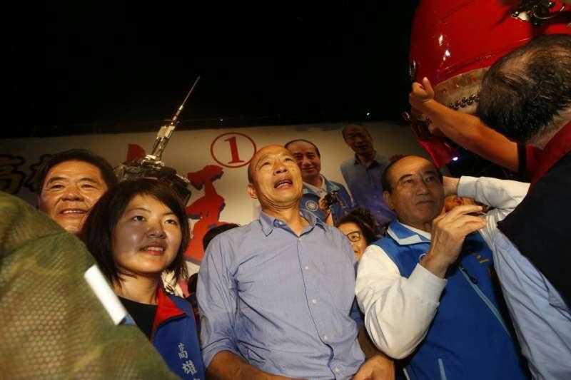 韓國瑜表示,將捍衛自己的名譽、控告製作假新聞的人,並還給年代主播張雅琴一個清白。(資料照,新新聞郭晉瑋攝)
