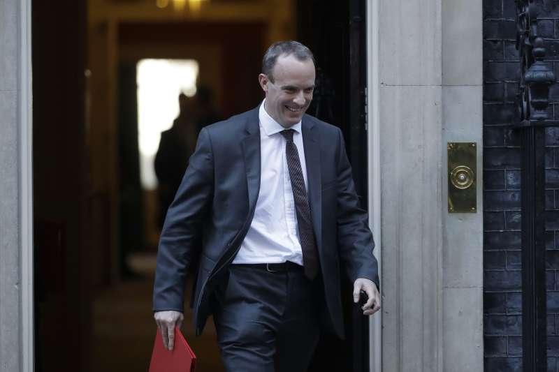 英國脫歐事務大臣、脫歐大臣拉布(Dominic Raab)(AP)