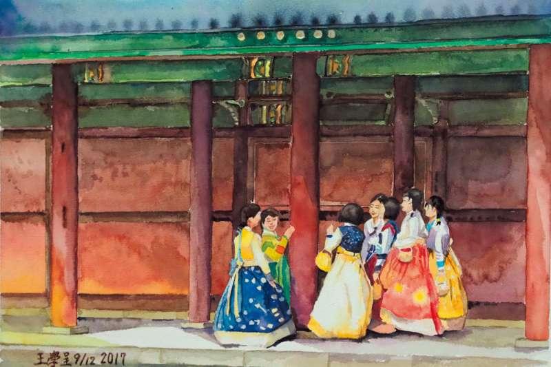 清裝搶不過北京,唐裝強不過新加坡,農婦裝扮比不過越南女裝奧黛和白色斗笠,「有什麼服裝可以代表台灣?」(王學呈提供)