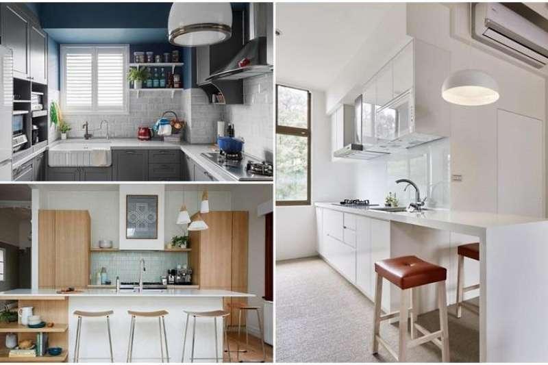 10 款清新餐廚空間,教你用色彩學擊退廚房裡的躁熱感!(圖/設計家Searchome提供)