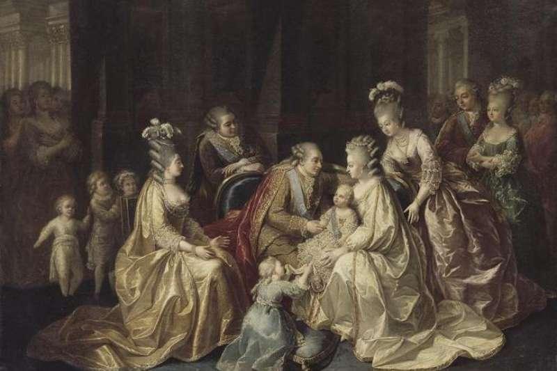 法國國王路易十六、王后瑪麗.安東妮(Marie Antoinette)一家人,1781年(Wikipedia / Public Domain)