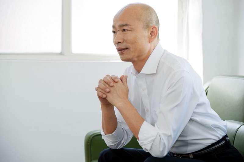 韓國瑜,喊出高雄「創新、創業」口號,首重創業人才培育。(圖/韓國瑜競選總部提供)