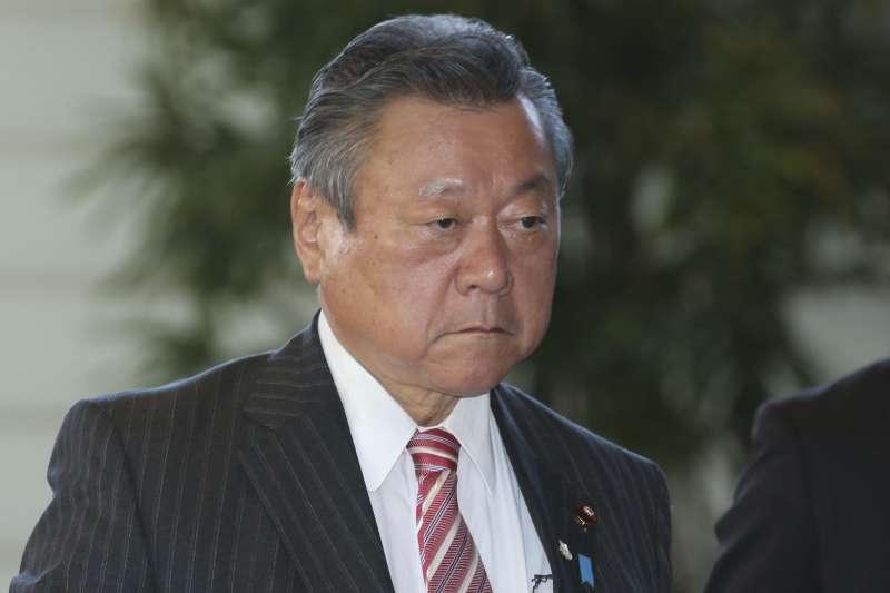 日本政府網路安全戰略總部的擔當大臣兼奧運大臣櫻田義孝。(AP)