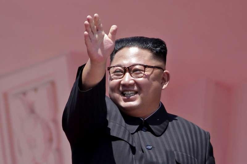 北韓最高領導人金正恩,攝於2018年9月9日(AP)