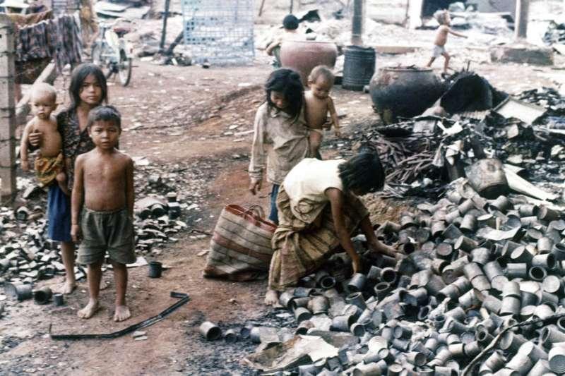 1974年、柬埔寨、「赤柬」(Khmer Rouge)。(AP )