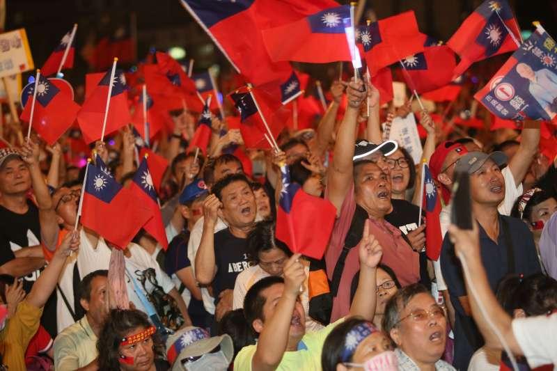 國民黨高雄市長候選人韓國瑜的支持者在民進黨眼中是「魯蛇」。(新新聞柯承惠攝).JPG