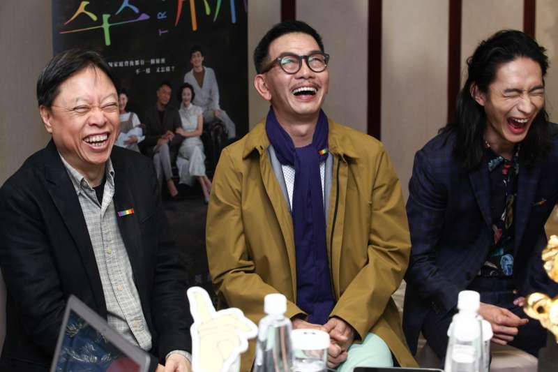 20181118-電影「翠絲」媒體茶敘,出席人左起:監製舒琪、袁富華、黃河。(蔡親傑攝)