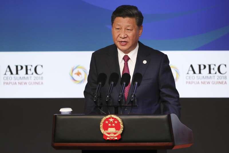 2018年11月,APEC經濟領袖會議,巴布亞紐幾內亞,中國國家主席習近平發表演講(AP)