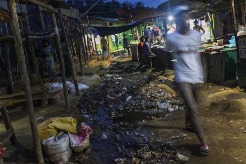 難民營市場。(Junhee Jang攝)