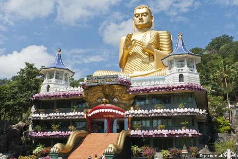 斯裡蘭卡的丹布勒石窟寺。(圖/德國之聲)