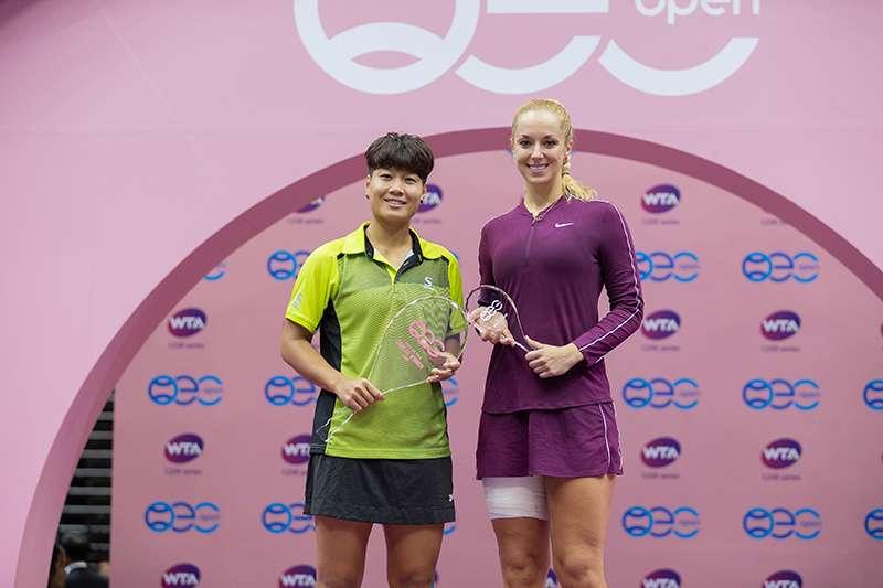 台北海碩盃國際邀請賽決賽是,由泰國女子單打好手康坎擊敗「微笑女神」利斯基,成功拿下今年海碩盃女子單打冠軍。(海碩整合行銷提供)
