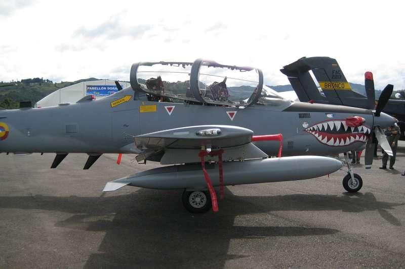 哥倫比亞空軍的A-29超級巨嘴鳥(A-29 Super Tucanos)輕型攻擊機。(Neoreich @ Wikipedia / CC BY 3.0)
