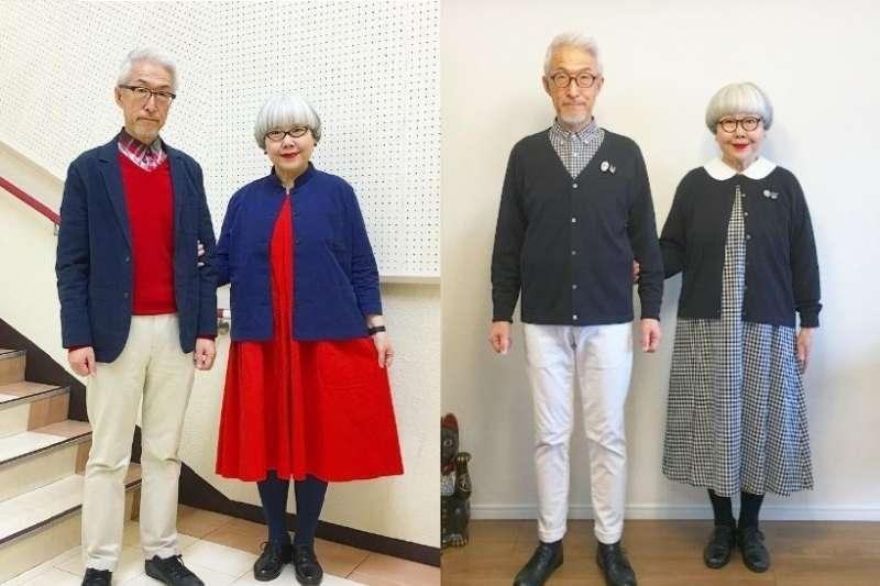 日本夫婦 Bon 和 Pon是Instagram非常有名的「穿搭達人」,追蹤粉絲高達 75 萬人。(圖/女子學提供)