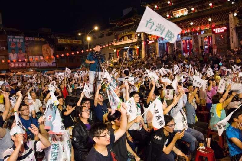 基進黨「力抗中國韓流總集結」晚會,人氣頗旺。(翻攝自陳柏惟臉書)