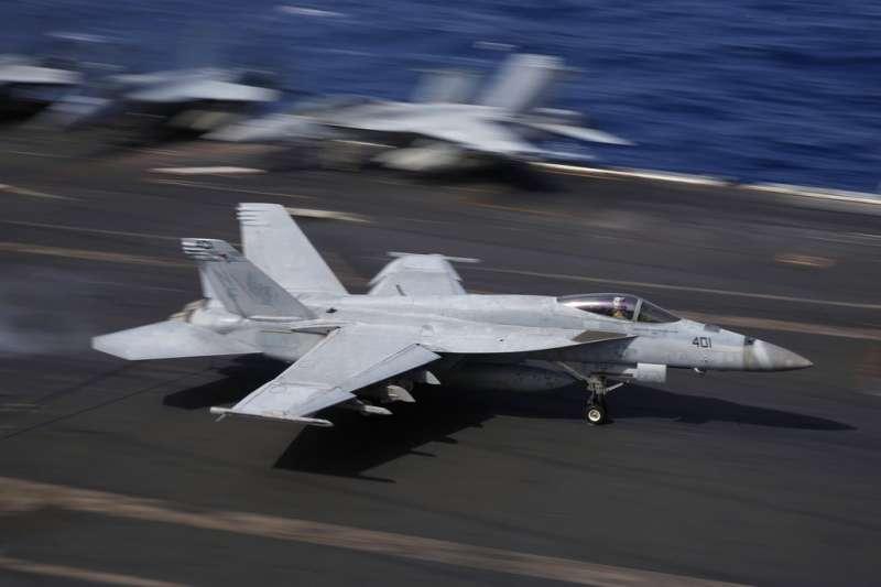 美國航空母艦「雷根號」(USS Ronald Reagan)。(AP)