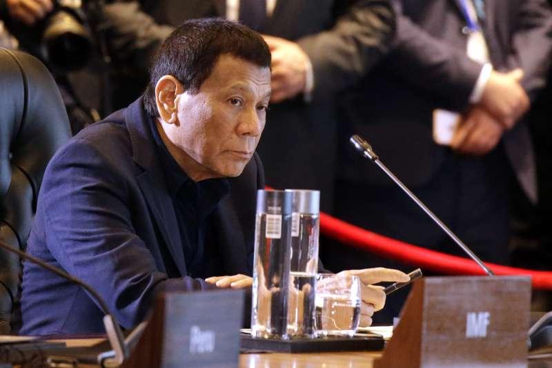 2018年11月APEC巴紐峰會,菲律賓總統杜特蒂(AP)