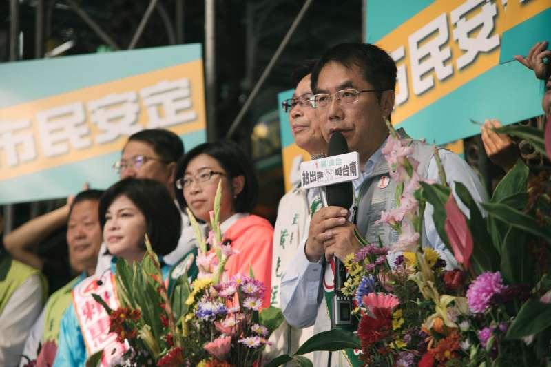 選前36小時超級直播 黃偉哲訴求:台南會贏、市民安定!(黃偉哲競選辦公室提供)