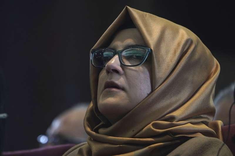 沙烏地阿拉伯遇害記者哈紹吉(Jamal Khashoggi)的未婚妻堅吉茲(Hatice Cengiz)(AP)
