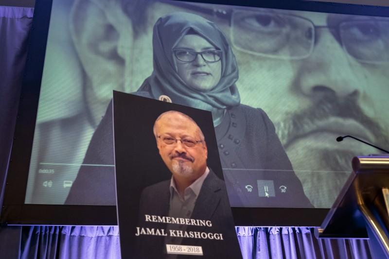 沙烏地阿拉伯遇害記者哈紹吉(Jamal Khashoggi)與未婚妻堅吉茲(Hatice Cengiz)(AP)