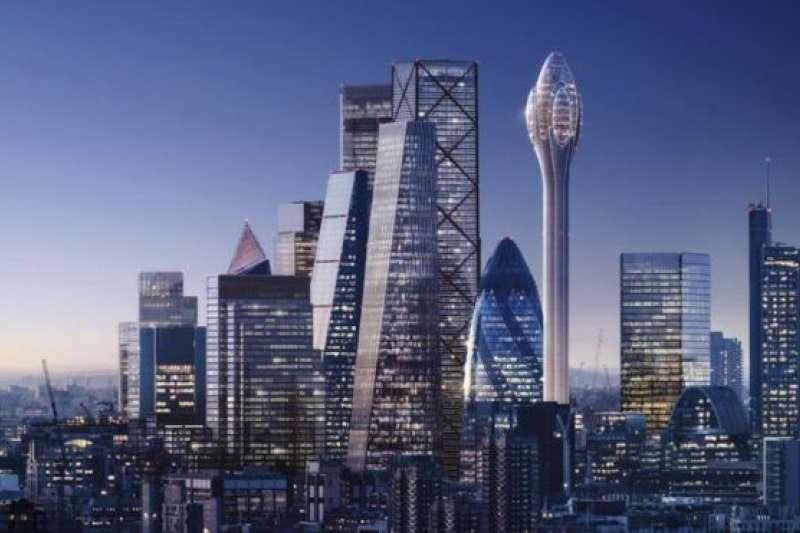 倫敦天際線將出現一座名為「鬱金香」的新高樓。(圖/BBC中文網)