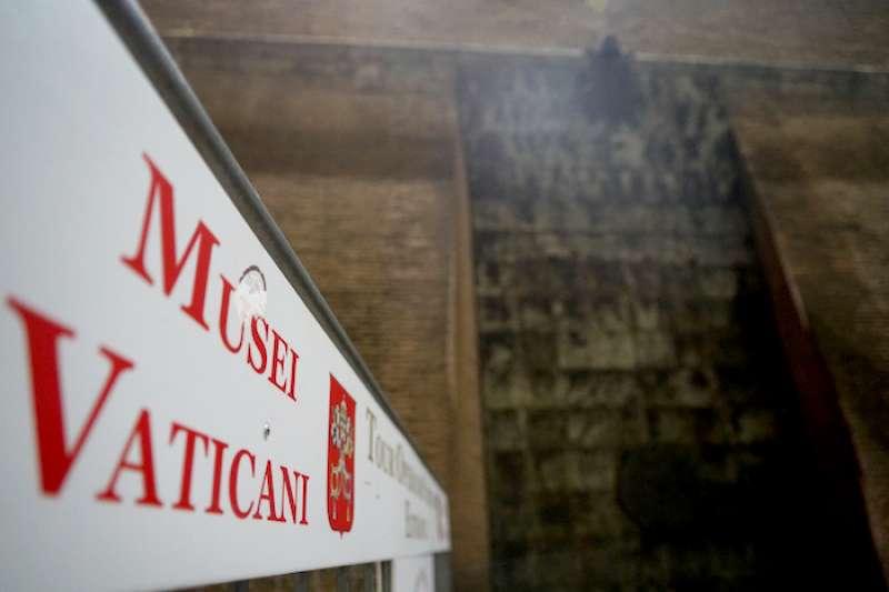 梵蒂岡博物館入口。(曾廣儀攝)