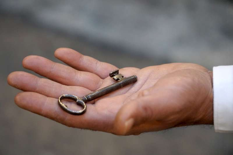 獨一無二的西斯廷教堂鑰匙。(曾廣儀攝)