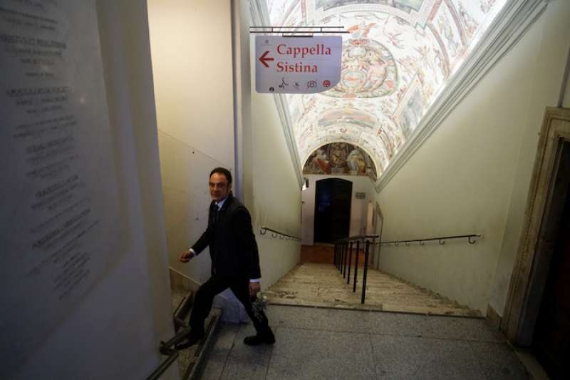 西斯廷教堂入口。(曾廣儀攝)