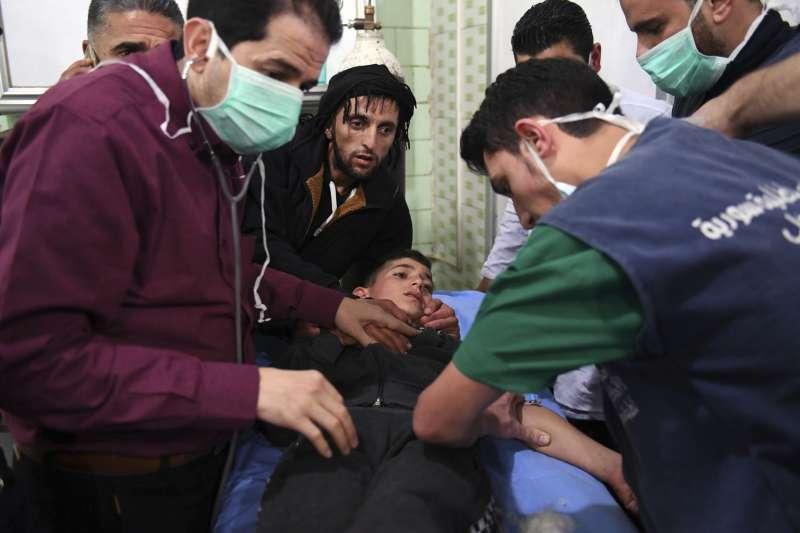 敘利亞阿勒坡遭到毒氣攻擊(AP)