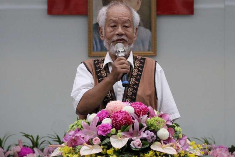 《賴和全集》作家林瑞明26日於家中離世,圖為10月1日他應邀出席國立台灣文學館新館長就職典禮。(國立台灣文學館提供)