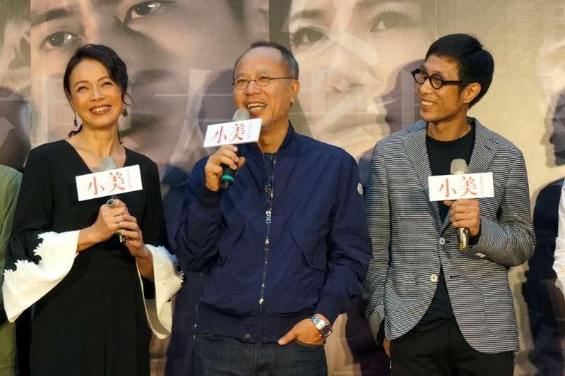 國片《小美》今辦記者會,演員柯淑勤(左起)、監製鍾孟宏、導演黃榮昇均出席。(甲上娛樂提供)