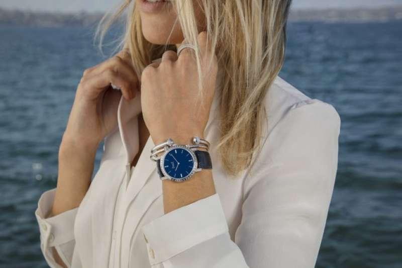 Piaget Altiplano鑲飾長方形切割鑽石錶盤腕錶 G0A44076. (圖/PIAGET提供)
