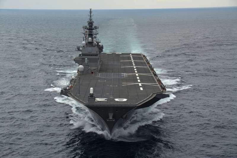日本海上自衛隊的直升機護衛艦出雲號。(海上自衛隊官網)