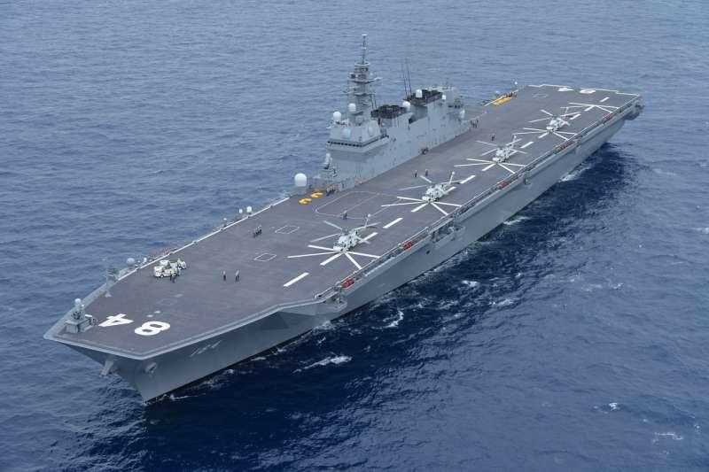 日本海上自衛隊的直升機護衛艦加賀號。(海上自衛隊官網)