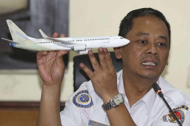 2018年11月28日,印尼國家運輸安全委員會(KNKT)飛航事務主管努卡約(Nurcahyo Utomo)說明「獅子航空」JT610班機空難調查報告(AP)
