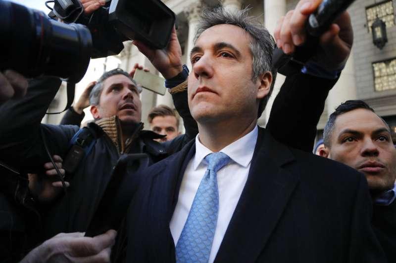 2018年11月29日,川普前私人律師柯恩(Michael Cohen)涉嫌向國會作偽證,出庭認罪。(AP)