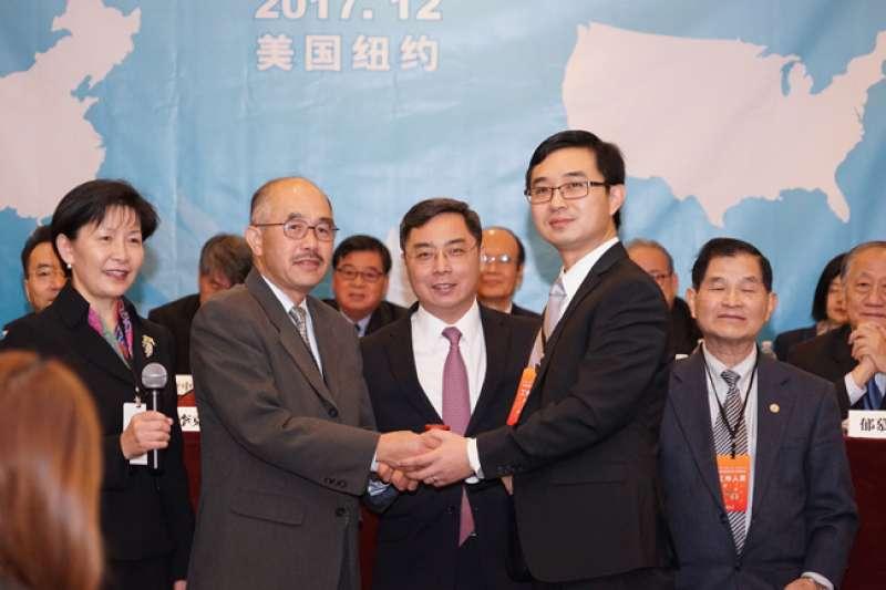 2017年12月2日,中國駐美大使館公使李克新出席全美中國和平統一促進會聯合年會。(取自中國駐美大使館官網)