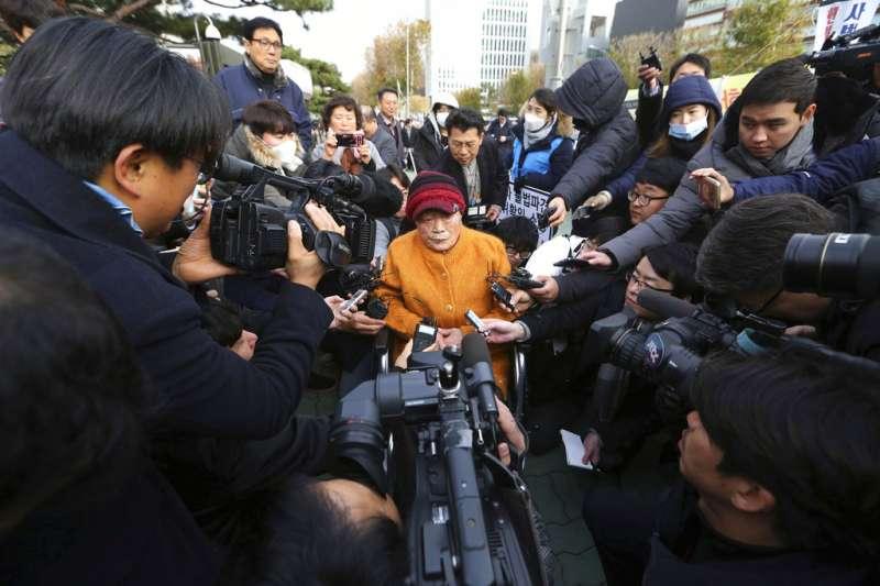 南韓最高法院29日判決,對二戰期間被強徵的韓國勞工向日本三菱重工業公司提出的兩起索賠案,三菱重工承擔賠償責任。(美聯社)