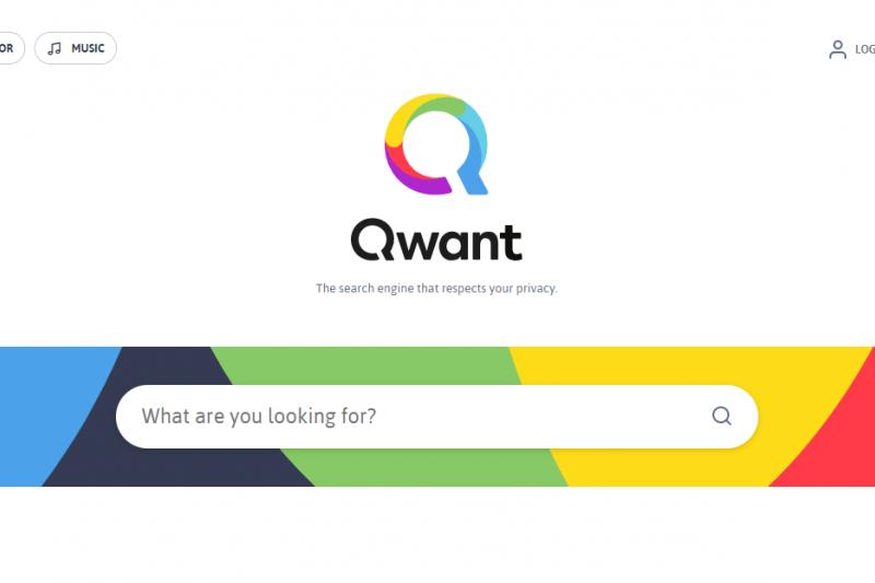 法國新創搜尋引擎Qwant(翻攝Qwant官網)