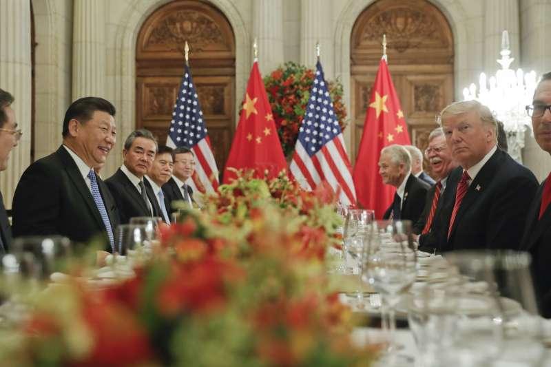 阿根廷G20峰會,美國總統川普與中國國家主席習近平達成共識,美方宣布不在2019年1月1日調高關稅至25%。(AP)
