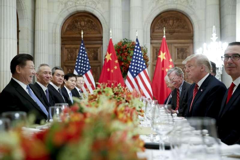 阿根廷G20峰會,美國總統川普與中國國家主席習近平達成共識,美方宣布不在2019年1月1ˋ日調高關稅至25%。(AP)