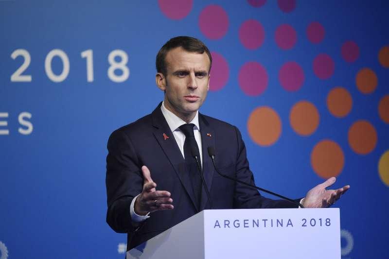 法國「黃背心」示威,法國總統馬克宏譴責暴力衝突(AP)
