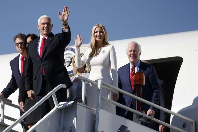 20181202-美國副總統彭斯和第一千金伊凡卡都墨西哥參加新總統就職典禮。(AP)