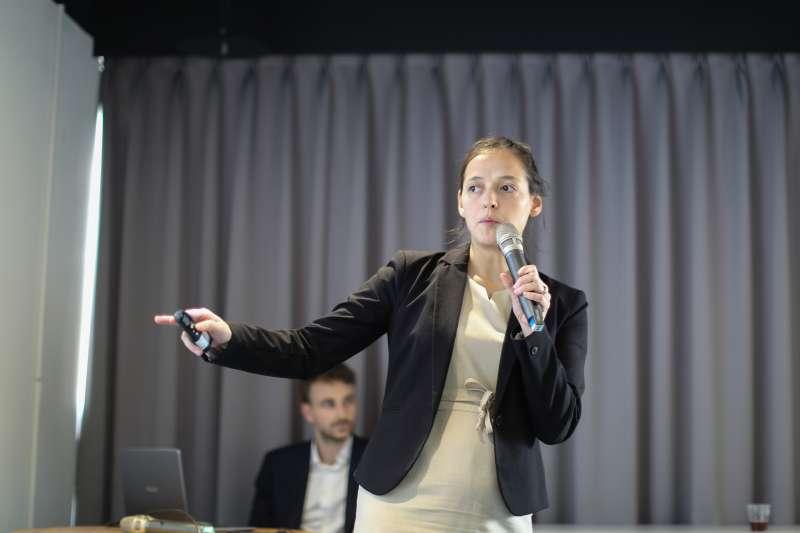 法國駐南韓大使館智產專員米勒宏談專利權(法國在台協會提供)